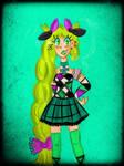Jester punk reptilian girl