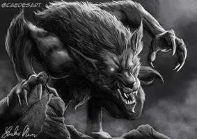 Werewolf by Caedes-art