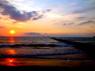 Sunset in 'Pantai Penyu' by Aditiya-IR
