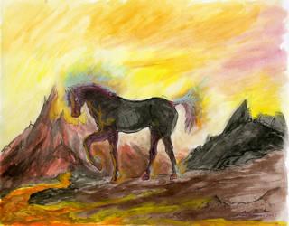 Watercolor Painting Nightmare by koibutsu