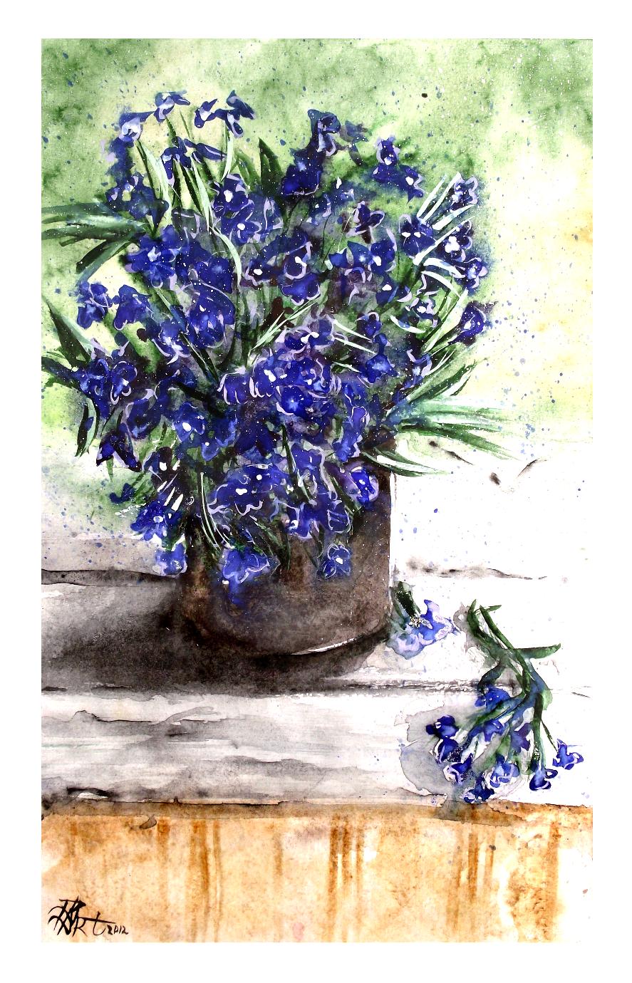 Blue flowers by Gloria-san