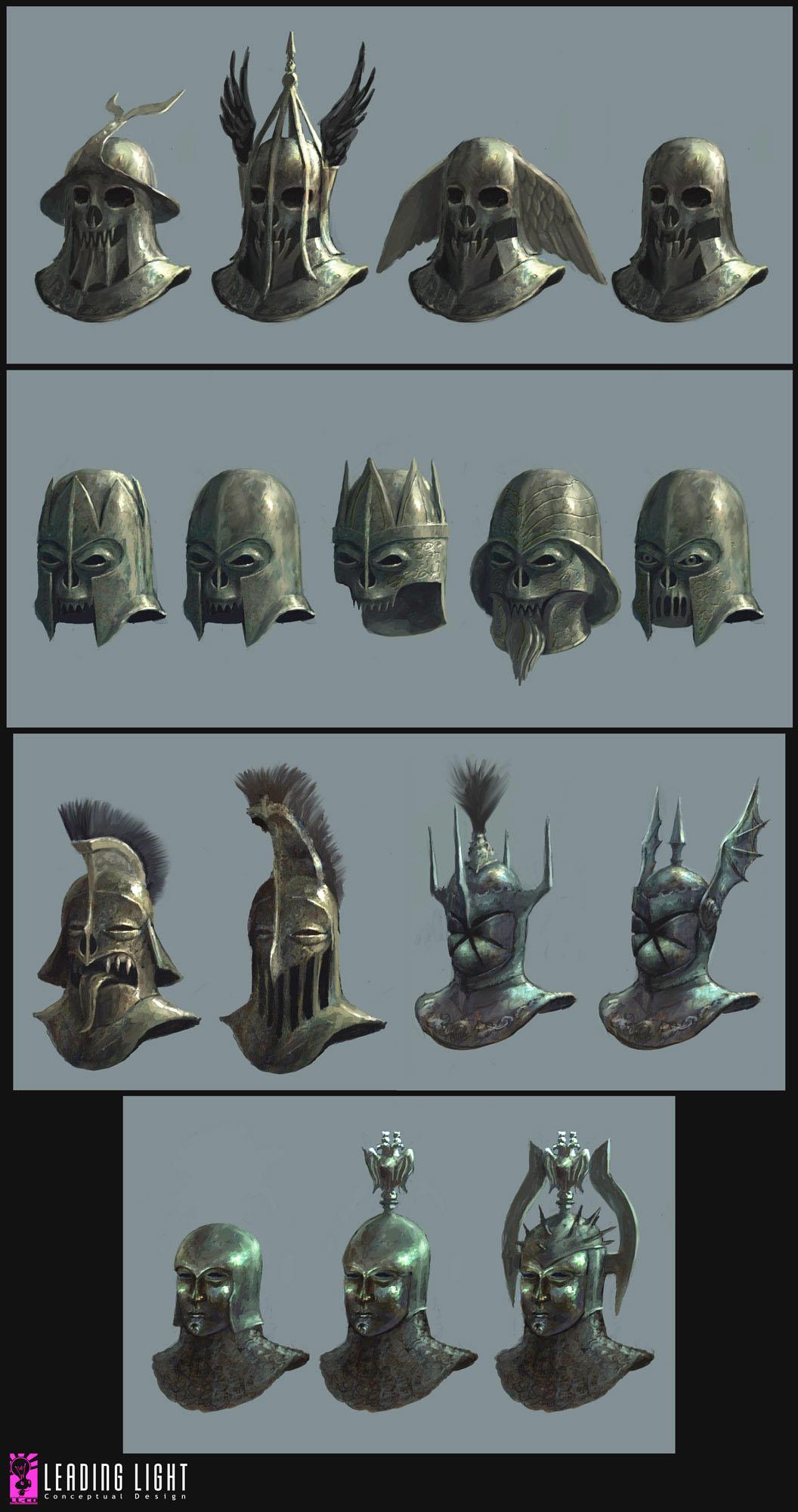 Fable II helmet designs by PeteAmachree on DeviantArt