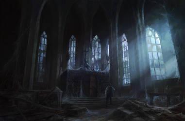 Starry Wisdom Cult Church by PeteAmachree