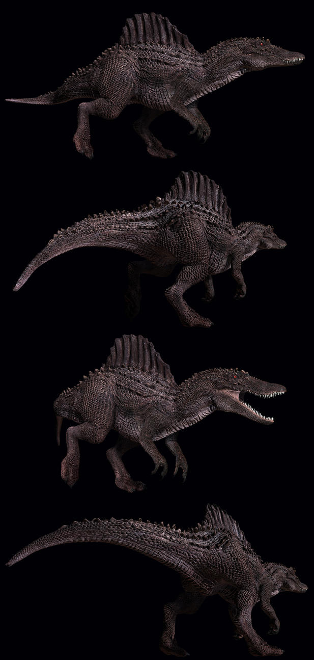 Spinosaurus renders by PeteAmachree