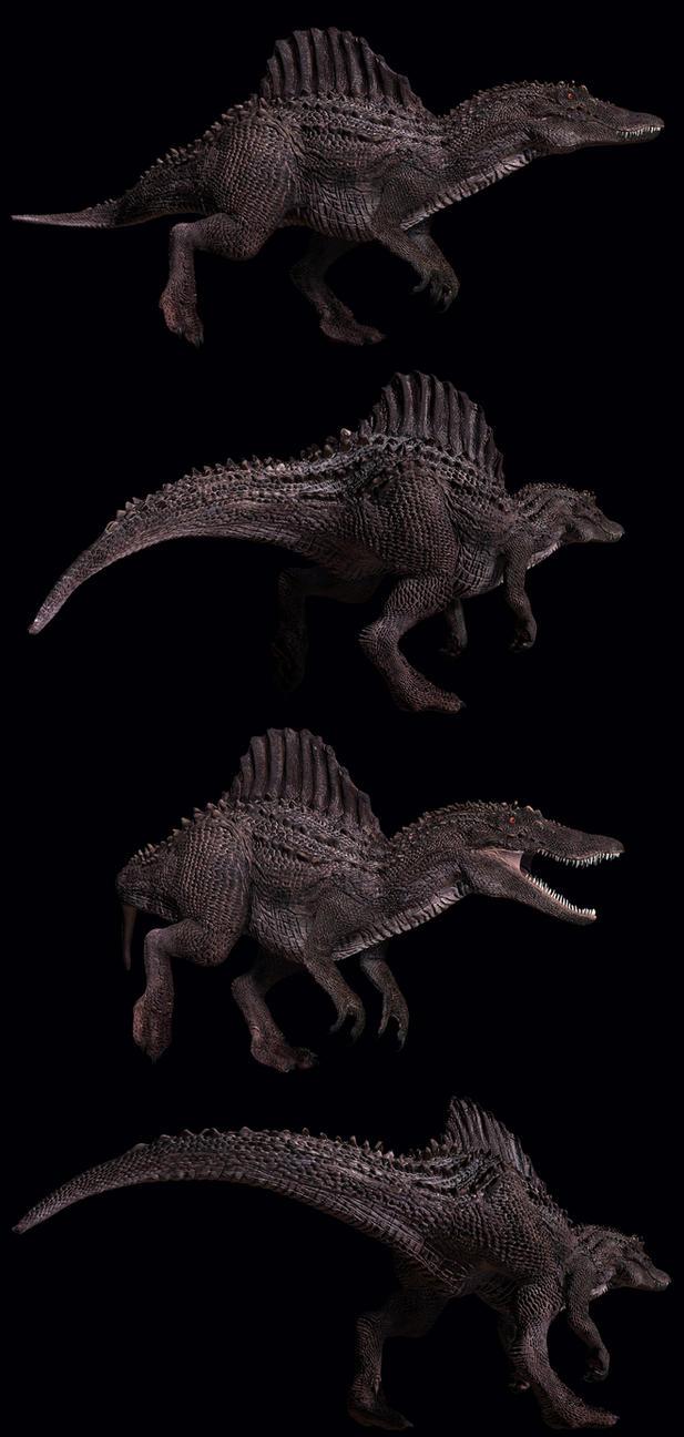 Spinosaurus renders by PeteAmachree