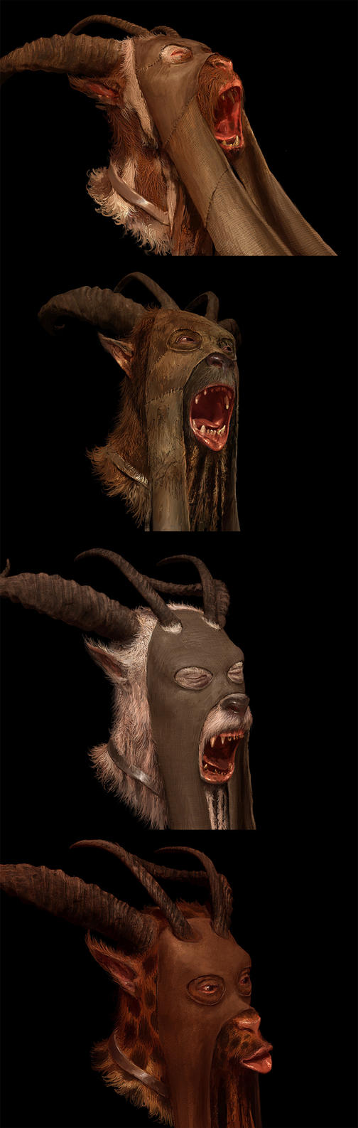 Beastman morph targets by PeteAmachree
