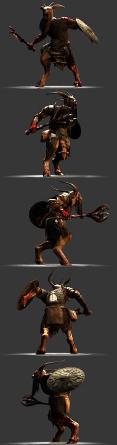 Beastman spinrig renders