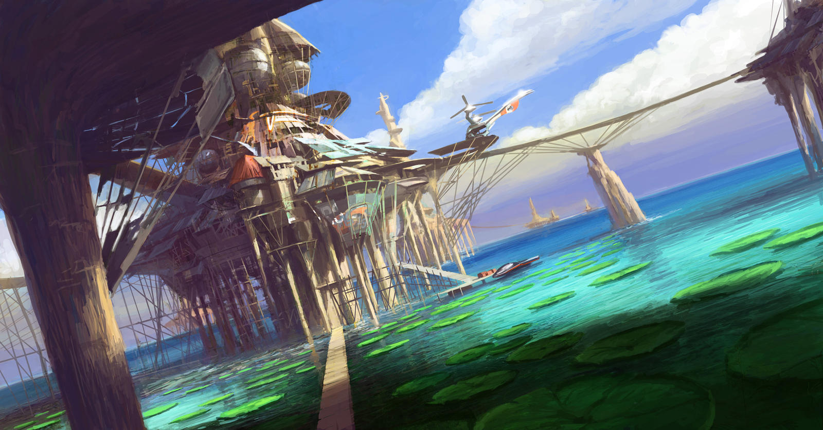 ImagineFX Smuggler Archipelago by PeteAmachree