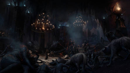 Luthien in the court of Morgoth