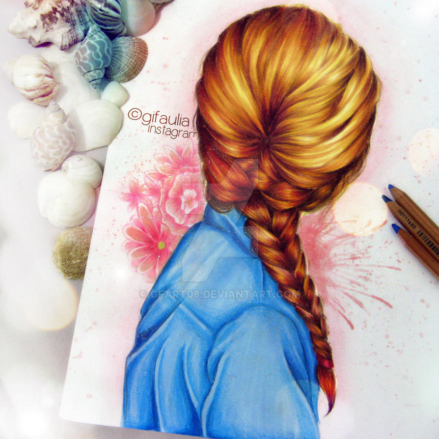 Hair Drawing by GFArt08
