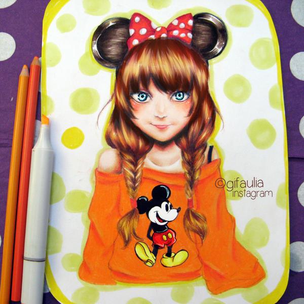 Minnie Mouse by GFArt08