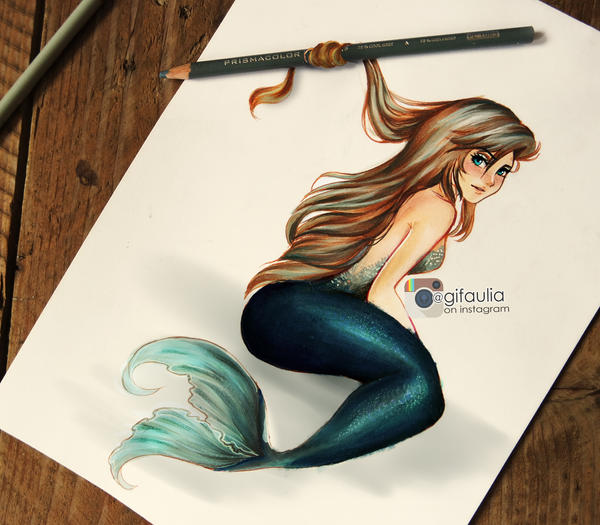 Teal Mermaid by GFArt08
