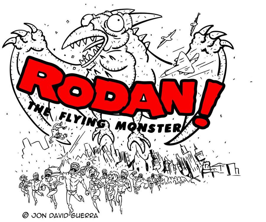 RODAN Art Print WIP by JonDavidGuerra