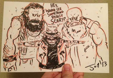 The Wyatt Family - Sketch! by JonDavidGuerra