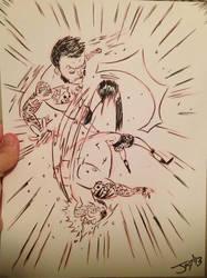 CM Punk vs Randy Orton sketch!