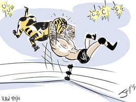 Goldust gets RKO'd by JonDavidGuerra