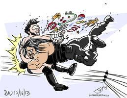 Roman-Reigns-Spears-CM-Punk-JonDavidGuerra by JonDavidGuerra