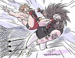 Daniel Bryan and Bray Wyatt by Jon David Guerra by JonDavidGuerra