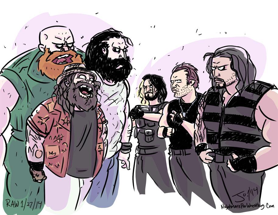The Wyatt Family vs The Shield by JonDavidGuerra