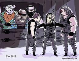 Wyatt-Family-vs-The-Shield-EliminationChamber- by JonDavidGuerra