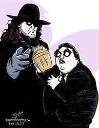 The Undertaker and Paul Bearer by JonDavidGuerra