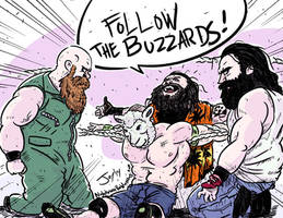 John Cena vs The Wyatt Family by JonDavidGuerra