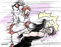 Sheamus-Brogue-Kicks-Dean-Ambrose-JonDavidGuer by JonDavidGuerra