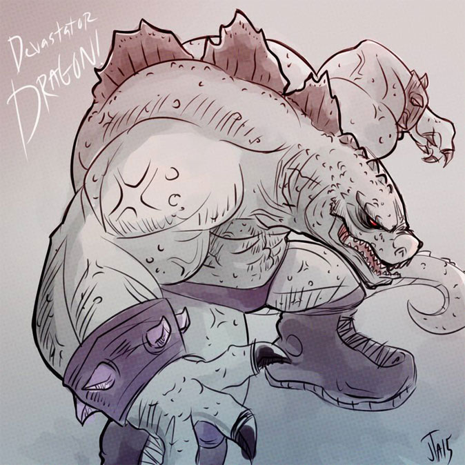 Devastator Dragon fan art! by JonDavidGuerra