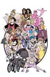 Doomsday Wrestling - Art Print