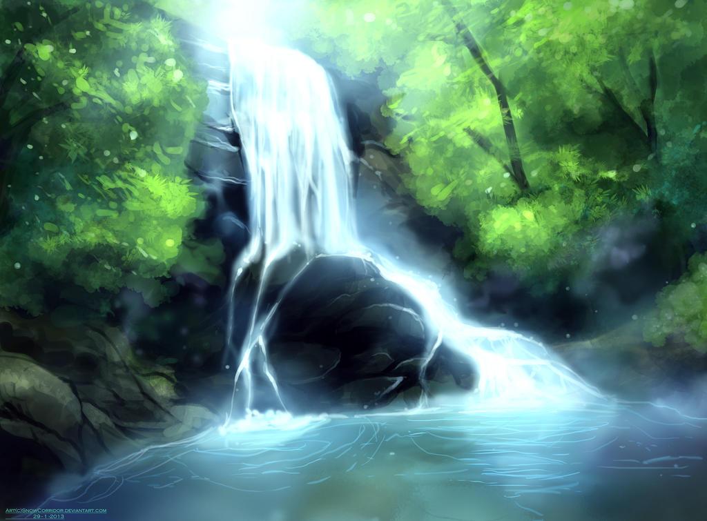 Waterfall Study by SnowCorridor