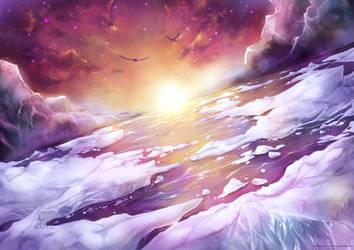 Towards the Setting Sun by SnowCorridor