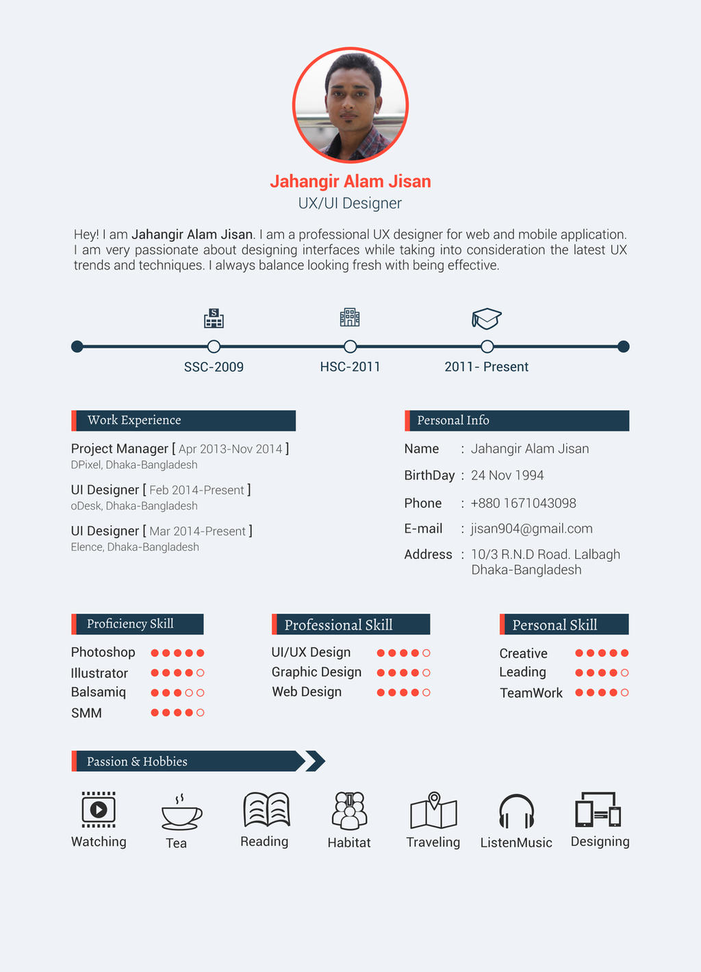 FREE Resume Template (3 page) by antuhin