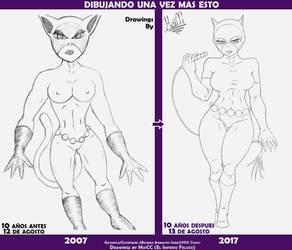 Catwoman 10th Anniversary of a Bad Drawing by EMPERADO-RFELOZO