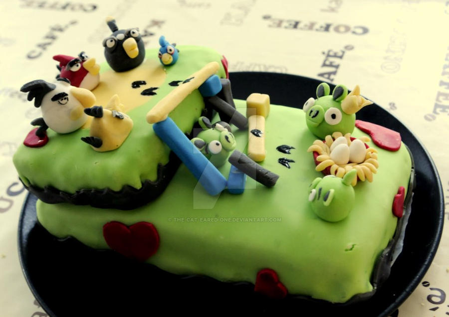 Angry Birds Cake By The Cat Eared One