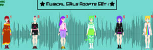Musical Girls Adopts Set 1 -- 6/6 OPEN! by RythmicSpark
