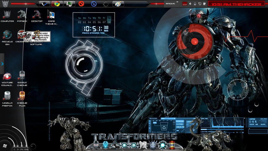 Decepticons theme rainmeter by patrickwilsond on deviantart for Deviantart rainmeter