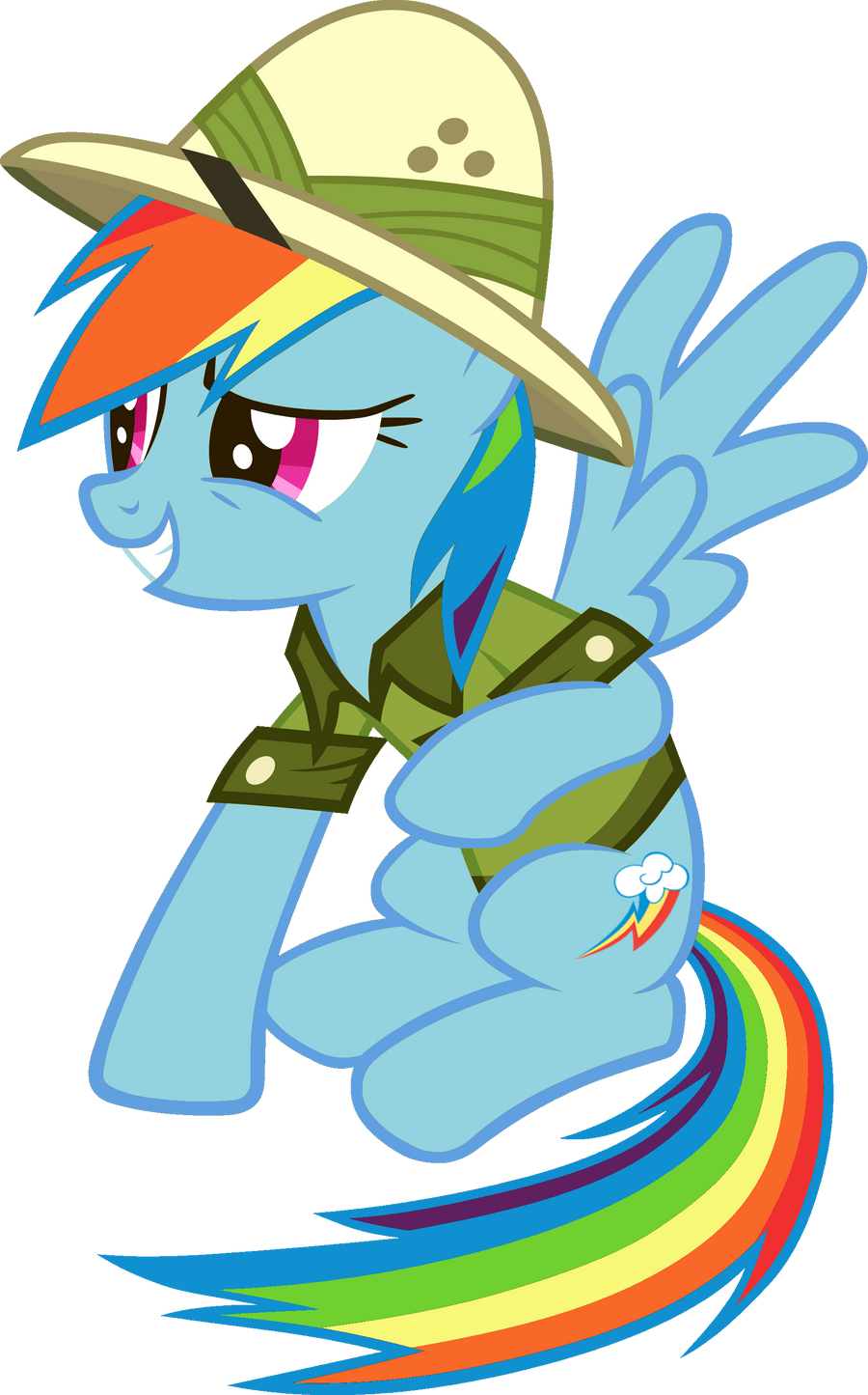 Rainbow Dash Safely Landing on the Other Side by RDbrony16