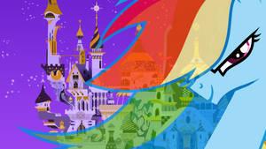 Rainbow Dash Canterlot Wallpaper