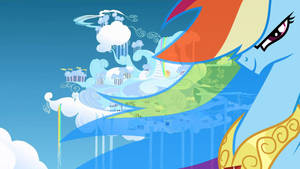 Rainbow Dash Cloudsdale Wallpaper
