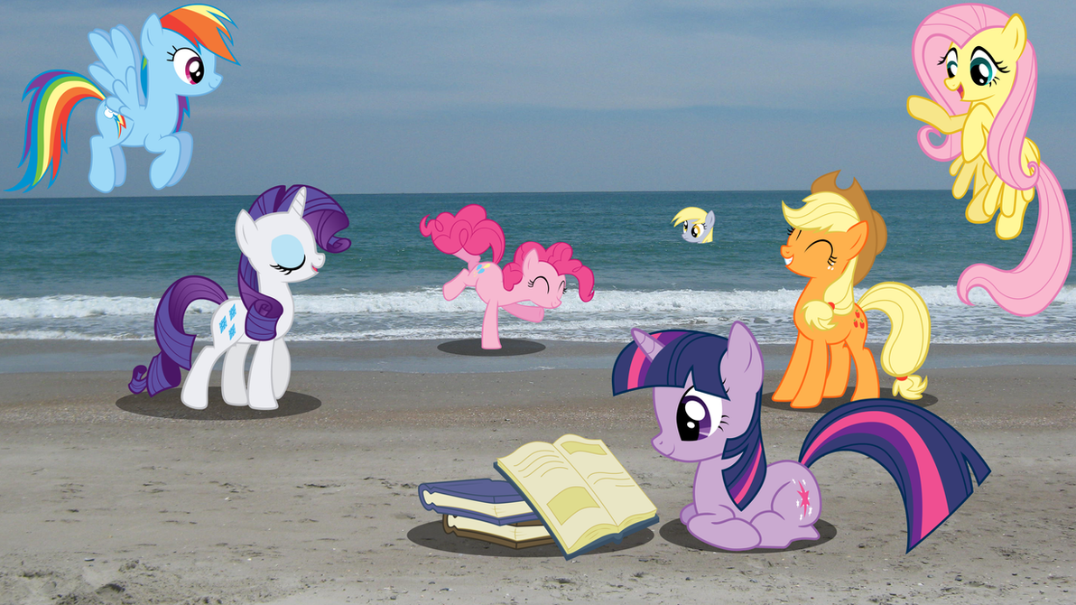 Ponies at the Beach Wallpaper by RDbrony16