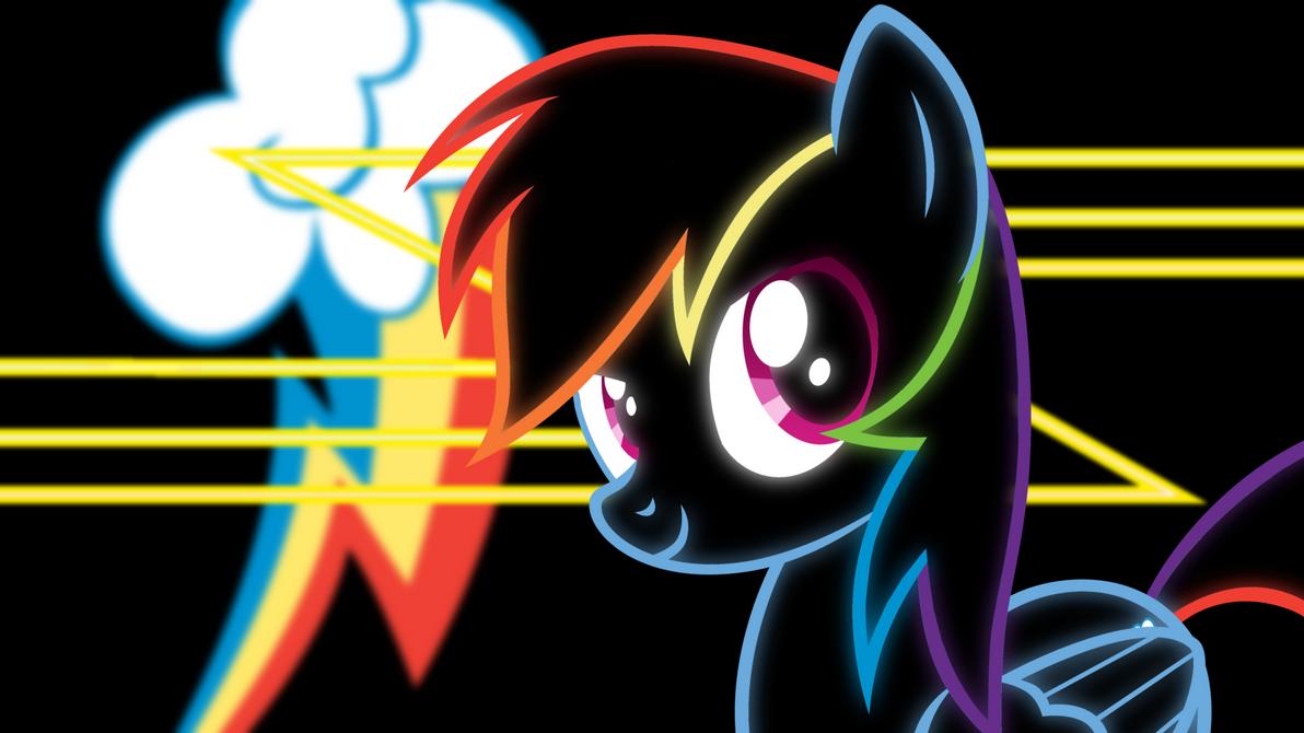 Rainbow Dash Neon Wallpaper by RDbrony16