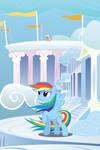 Rainbow Dash Windy Mane iPhone Wallpaper