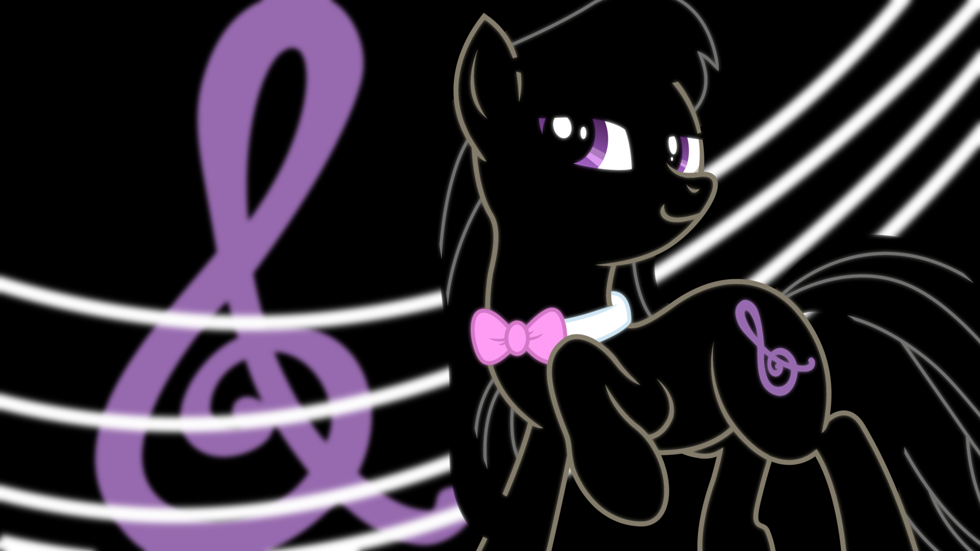 Octavia Neon Wallpaper by RDbrony16