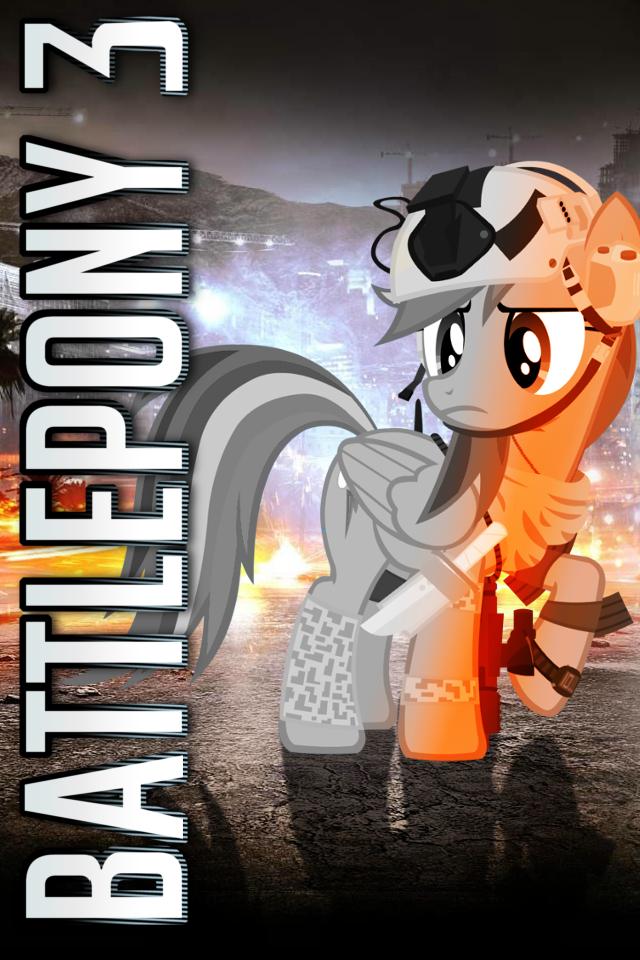 Battlepony 3 iPhone Wallpaper by RDbrony16