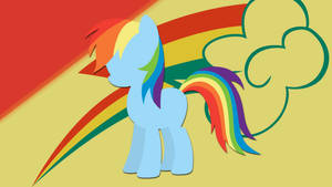 Rainbow Dash Silhouette Wallpaper
