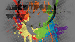Rainbow Dash Splatter Wallpaper