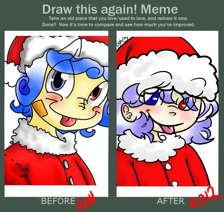 draw this again meme :x-mas by izmene