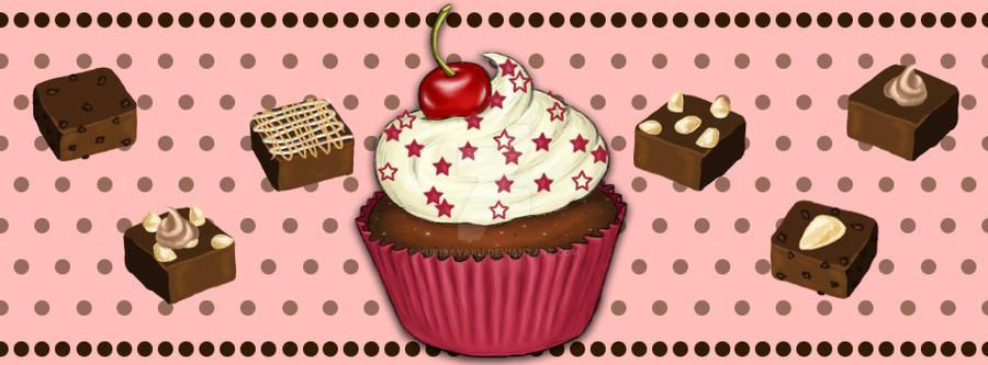 Brownies and Cupcake by YukiSayaku