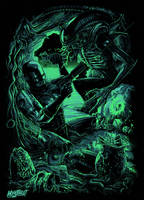 Alien vs Robocop by Mystreet-Art