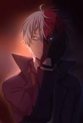 TVC BNHA- Bonus art: Villain Todoroki by Karitachan